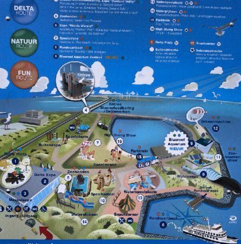 Übersicht Freizeitpark Neeltje Jans Zeeland Holland Niederlande Nordsee Oosterschelde