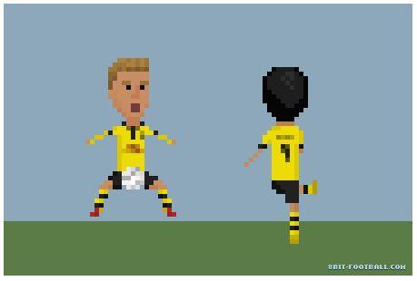 8Bit Borussia Dortmund Revierderby BVB Lewandowski vs Götze