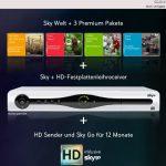 Abonnement Sky Welt und 3 Premium-Paketen