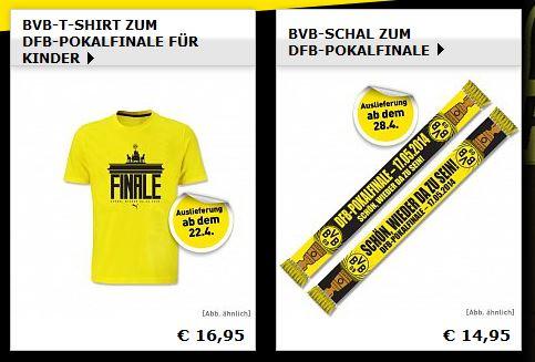 Aktion  DFB-Pokal  Offizieller Borussia Dortmund Online Fanshop