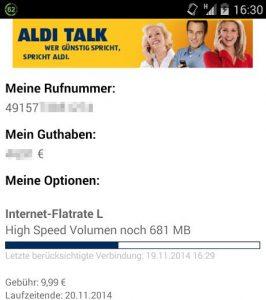 Aldi Talk App Android Internet Flatrate L