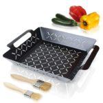 Amazy Grillkorb 2 Pinsel – Beschichtete BBQ Grillschale