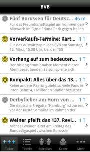 Android Market App Borussia Dortmund BVB