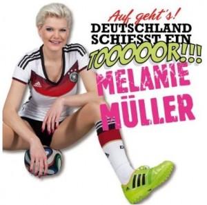 Auf geht's Deutschland schiesst ein Tor Cover Melanie Müller