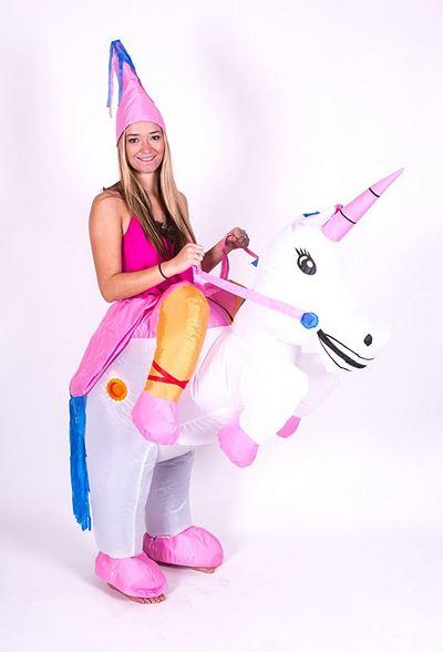 Aufblasbares Erwachsenen Kostüm Einhorn Karneval