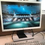 Büro Arbeitsplatz Monitor Tastatur Office