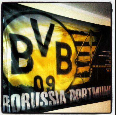 BVB Borussia Dortmund Flagge 2012 Deutscher Meister