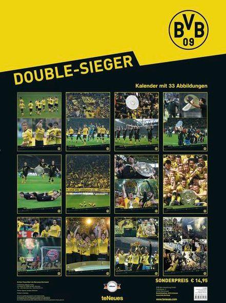 BVB Double Sieger 2013 teNeues Borussia Dortmund Kalender Übersicht Produkttest Rezension