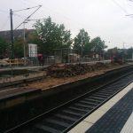 Bahnhof Kleinenbroich Bahnsteig Gleise Umbau Bauarbeiten