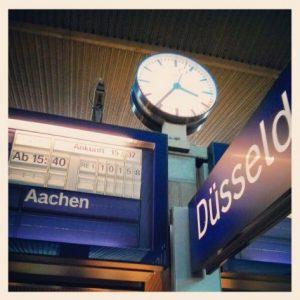 Bahnhof Uhr Düsseldorf Hbf Hauptbahnhof