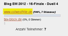 Blog-EM 2012 – Sechzehntel-Finale » Blog-EM » duelle, Blog-EM, Ansetzungen