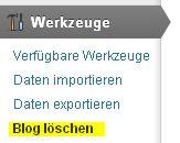 Blog löschen WordPress.com Anleitung Tutorial Tipps Hinweise