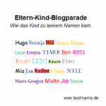 Blogparade Vornamen