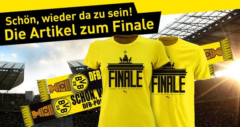 Borussia Dortmund BVB DFB Pokal Finale 2014 T-Shirt Schal