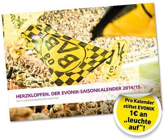 Borussia Dortmund Evonik Saisonkalender 2014 2015 Herzklopfen
