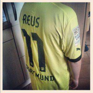 Borussia Dortmund Marco Reus Beflockung Saison 2012 2013 BVB Trikot