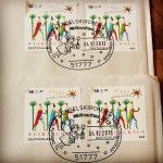 Brief Christkind 51777 Engelskirchen Weihnachten 2013 Poststempel Briefmarke