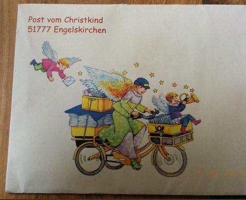 Brief Christkind 51777 Engelskirchen Weihnachten 2013
