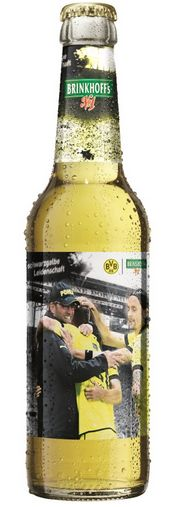 Brinkhoff´s No. 1 Bier BVB Borussia Dortmund schwarzgelbe Leidenschaft Flasche 2