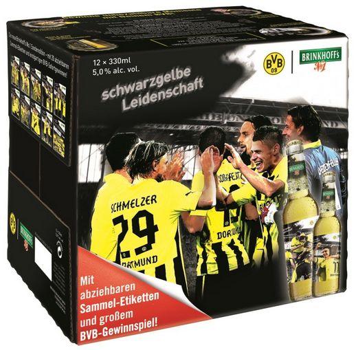 Brinkhoff´s No. 1 Bier BVB Borussia Dortmund schwarzgelbe Leidenschaft Karton