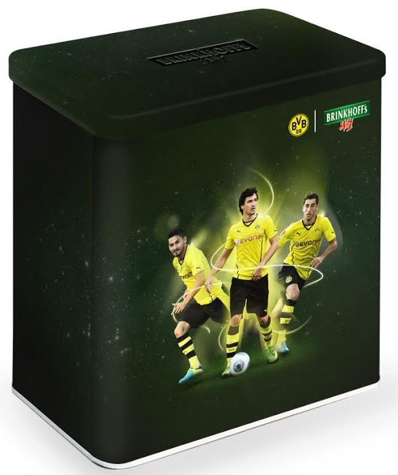 Brinkhoff's No.1  schwarzgelbe Fan-Editionsboxen Gündogan Hummels Mkhitaryan