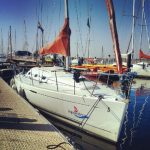 Bruinisse Jachthaven Yachthafen Segelschiff Segelboot Zeeland Niederlande Holland Segelschule