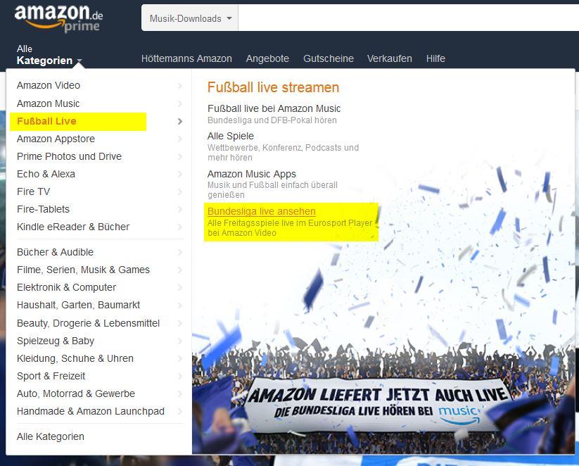 Bundesliga Eurosport Player Amazon.de