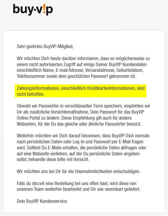 BuyVip E-Mail Hacker Angriff
