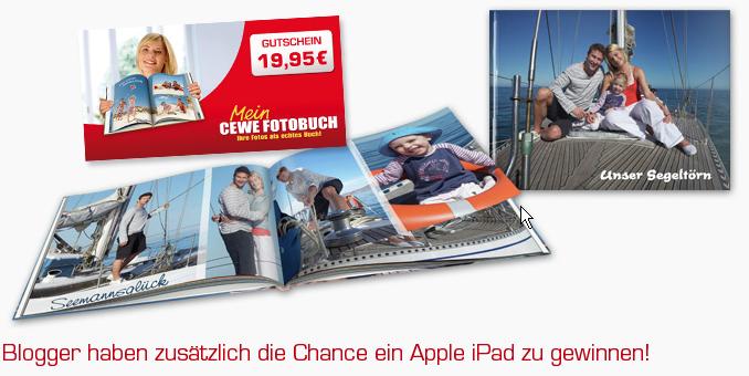 gewinnspiel cewe fotobuch gutschein und apple ipad. Black Bedroom Furniture Sets. Home Design Ideas
