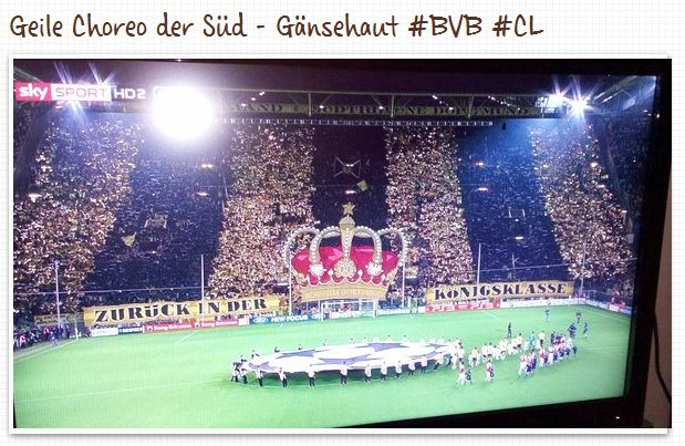 Choreo Südtribüne Borussia Dortmund Champions League Arsenal London