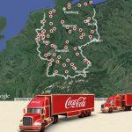 Coca Cola Weihnachtstruck 2013 Landkarte