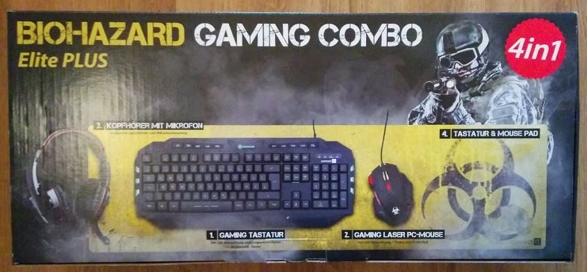 Connect IT Biohazard Gaming Set Combo