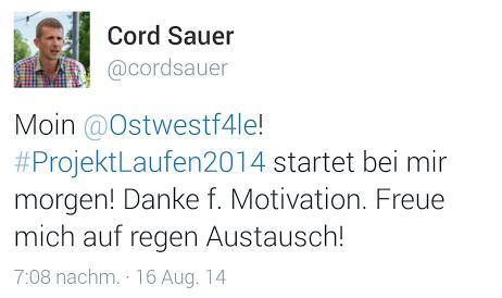 Cord Sauer Twitter Laufen