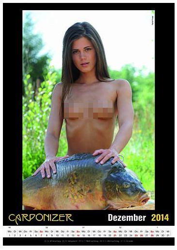 Carponizer erotischer Karpfenkalender 2014 Dezember Kalenderblatt Amazon