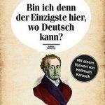 Cover Renzension Bin ich denn der Einzigste, wo Deutsch kann Andreas Hock