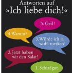 Cover Rezension Die fünf schlechtesten Antworten auf Ich liebe dich! Peter Wittkamp KiWi