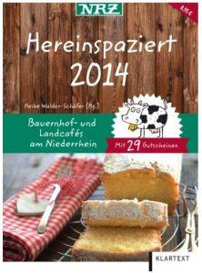 Cover Rezension Hereinspaziert 2014 Bauernhof- und Landcafés am Niederrhein