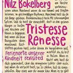 Cover Rezension Tristesse Renesse Nilz Bokelberg