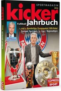 Cover Rezension kicker Fußball Jahrbuch 2013 copress
