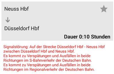 Düsseldorf Kleinenbroich Neuss S8 Signalstörung Bahnchaos