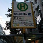 Düsseldorf Nordstraße U-Bahn Straßenbahn Tram Haltestelle Schild