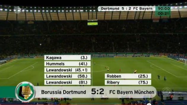 DFB Pokal Finale 2012 BVB Borussia Dortmund FCB Bayern München online schauen YouTube