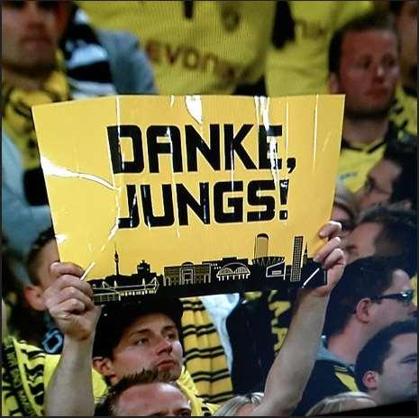 Danke Jungs BVB Borussia Dortmund Champions League Saison 2012 2013 Wembley