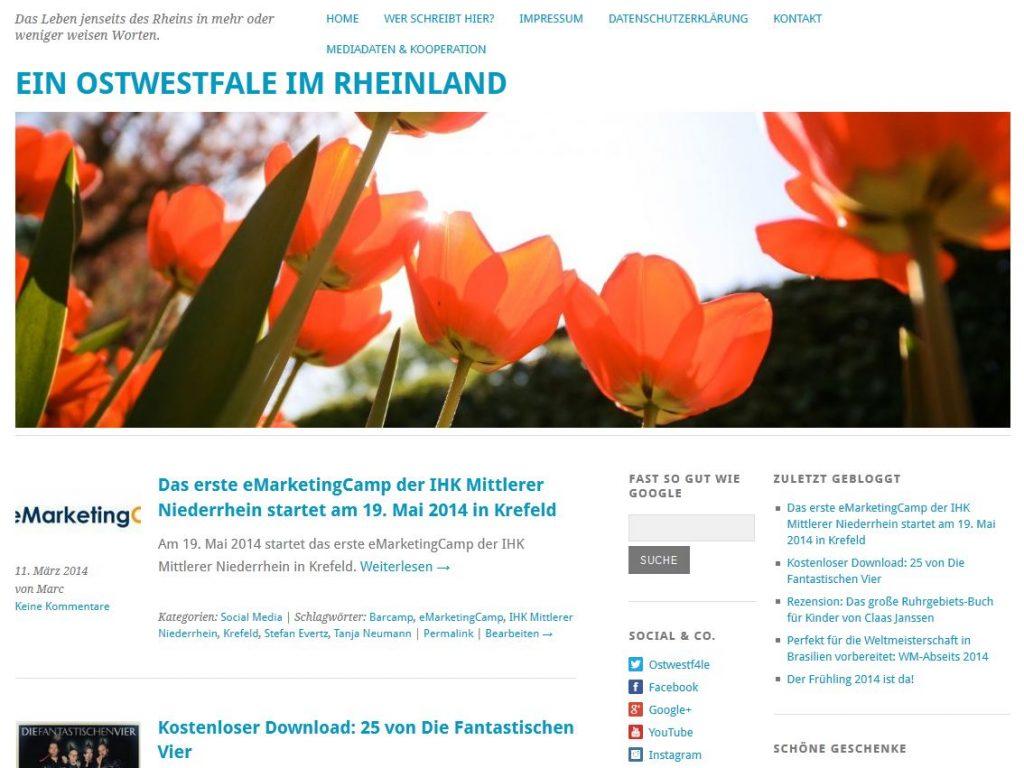 Das Leben jenseits des Rheins in mehr oder weniger weisen Worten Screenshot 11032014