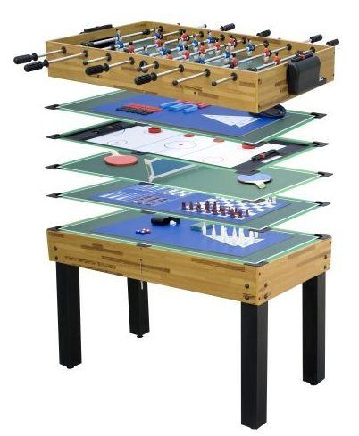 Deluxe 12-in-1-Multifunktionstisch Tischfußball, Tischtennis, Hockey, Bowling amazon.de