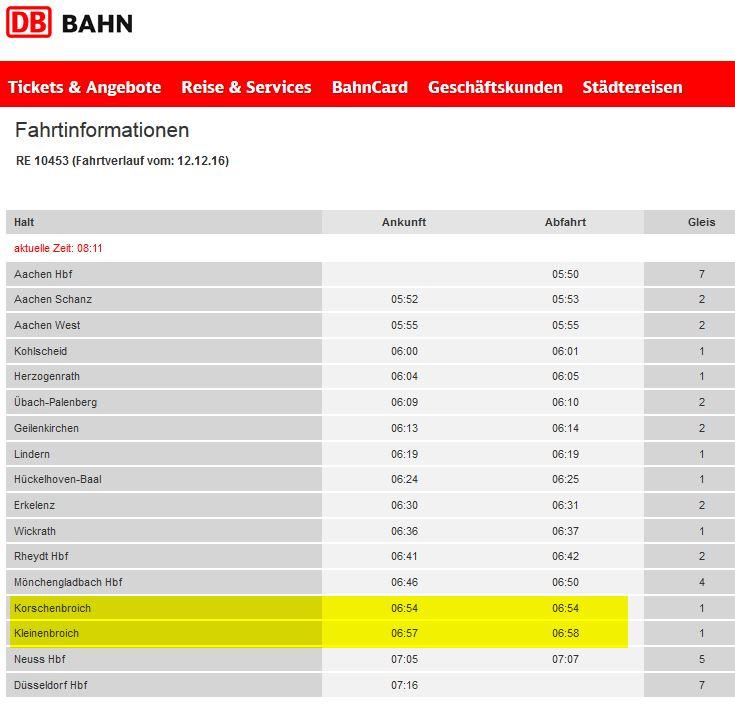 deutsche bahn re 10453 fahrplan 2016 2017 kleinenbroich korschenbroich re 4