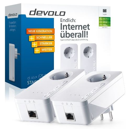 Devolo dLAN Powerline 650+ Starter Kit weiß Amazon