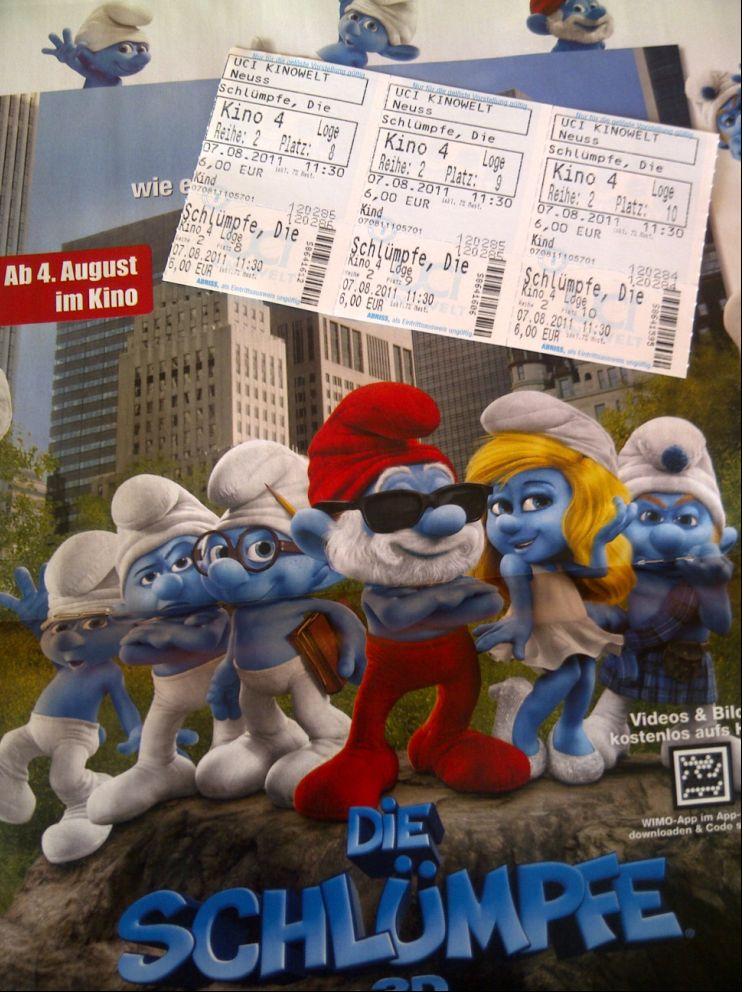 Die Schlümpfe 3D Kino UCI Neuss