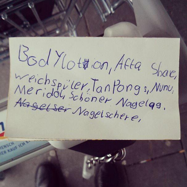 Einkaufszettel Neuss dm Fail