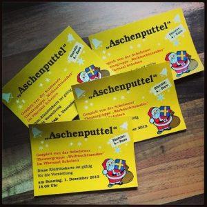 Eintrittskarte Aschenputtel Weihnachtsmärchen Schelsen Mönchengladbach Niederrhein